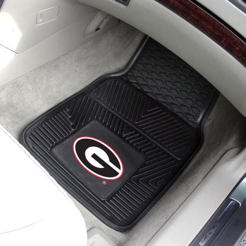 Picture of Georgia (UGA) Heavy Duty 2-Piece Vinyl Car Mat