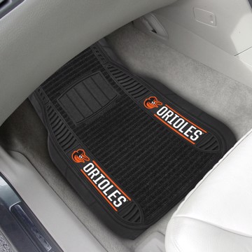 Picture of MLB - Baltimore Orioles 2-Piece Deluxe Car Mat Set