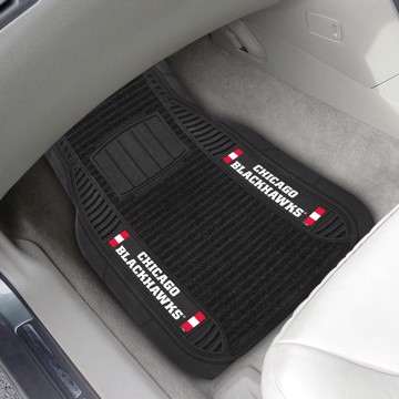 Picture of NHL - Chicago Blackhawks Deluxe Car Mat Set