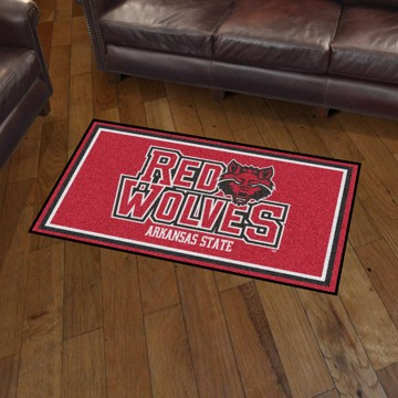 Picture of Arkansas State 3'x5' Plush Rug