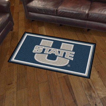 Picture of Utah State 3'x5' Plush Rug