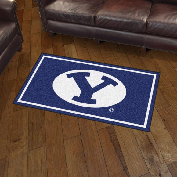 Picture of Brigham Young 3'x5' Plush Rug