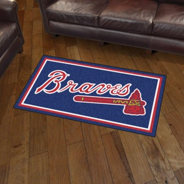 Picture of MLB - Atlanta Braves 3'x5' Plush Rug
