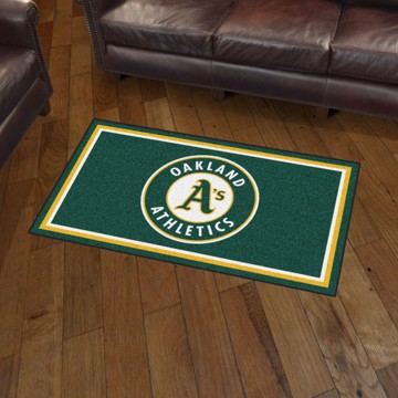 Picture of MLB - Oakland Athletics 3'x5' Plush Rug