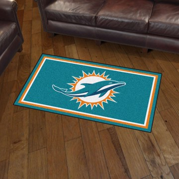 Picture of NFL - Miami Dolphins 3'x5' Plush Rug