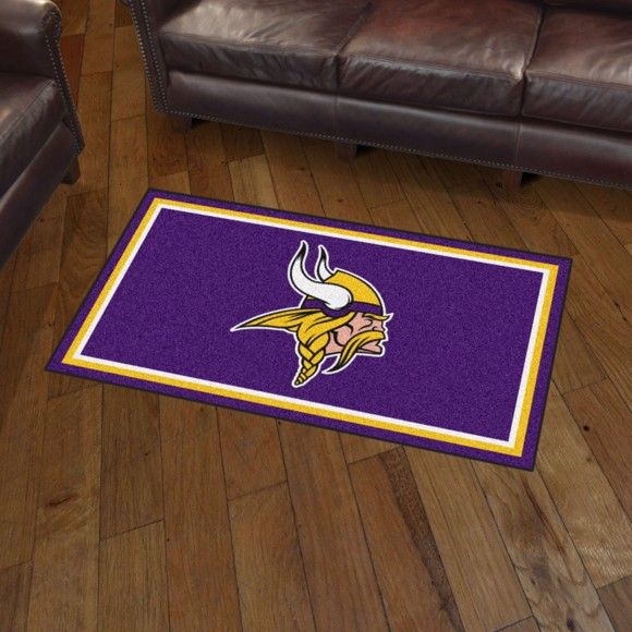 Nfl Minnesota Vikings 3 X5 Plush Rug