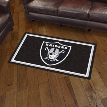Picture of NFL - Oakland Raiders 3'x5' Plush Rug