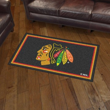 Picture of NHL - Chicago Blackhawks 3'x5' Plush Rug