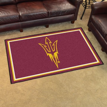 Picture of Arizona State 4'x6' Plush Rug