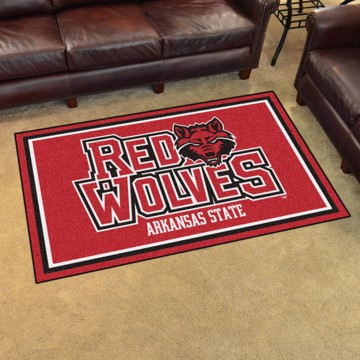 Picture of Arkansas State 4'x6' Plush Rug