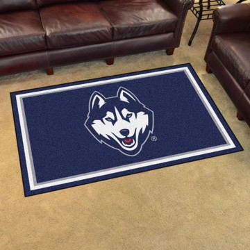 Picture of Connecticut (UCONN) 4'x6' Plush Rug