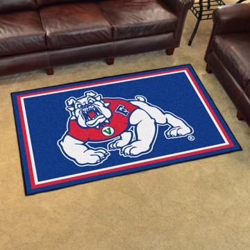 Picture of Fresno State 4x6 Plush Rug