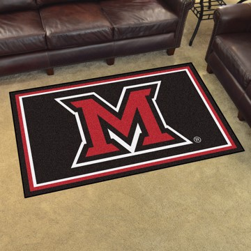 Picture of Miami (OH) 4'x6' Plush Rug