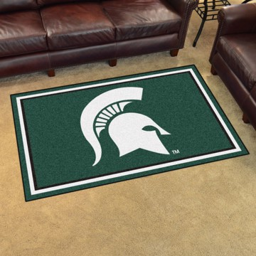 Picture of Michigan State 4'x6' Plush Rug
