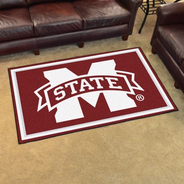 Picture of Mississippi State 4'x6' Plush Rug