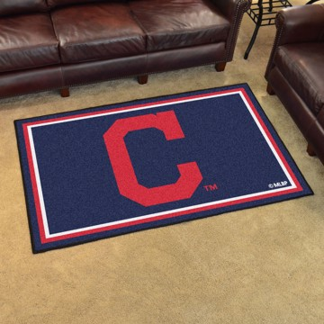 Picture of MLB - Cleveland Indians 4'x6' Plush Rug
