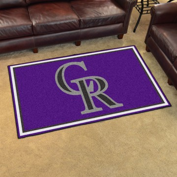 Picture of MLB - Colorado Rockies 4'x6' Plush Rug