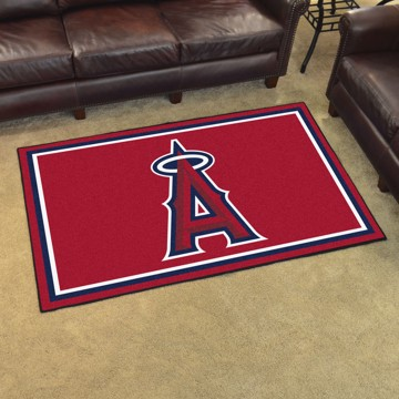 Picture of MLB - Los Angeles Angels 4'x6' Plush Rug