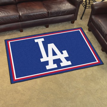 Picture of MLB - Los Angeles Dodgers 4'x6' Plush Rug