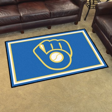 Picture of MLB - Milwaukee Brewers 4'x6' Plush Rug