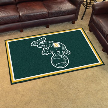 Picture of MLB - Oakland Athletics 4'x6' Plush Rug