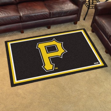 Picture of MLB - Pittsburgh Pirates 4'x6' Plush Rug