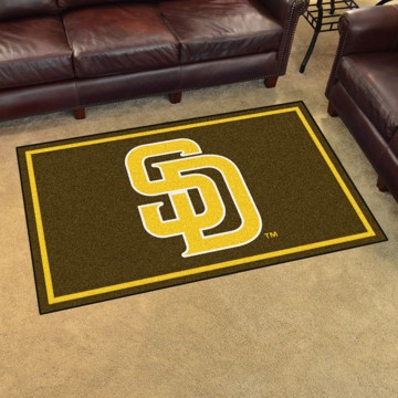Picture of MLB - San Diego Padres 4'x6' Plush Rug