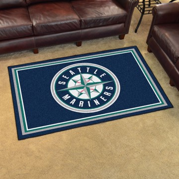 Picture of MLB - Seattle Mariners 4'x6' Plush Rug