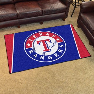 Picture of MLB - Texas Rangers 4'x6' Plush Rug