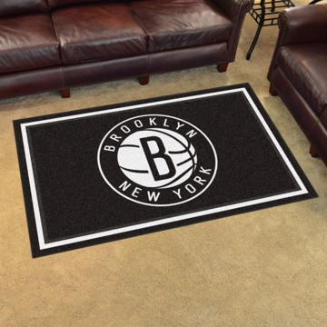 Picture of NBA - Brooklyn Nets 4'x6' Plush Rug