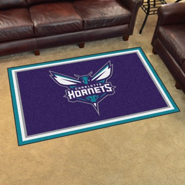 Picture of NBA - Charlotte Hornets 4'x6' Plush Rug