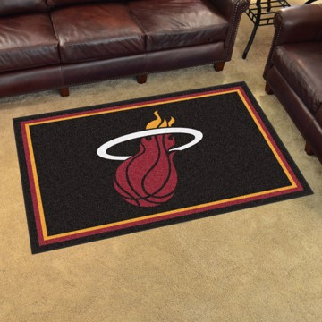 Picture of NBA - Miami Heat 4'x6' Plush Rug