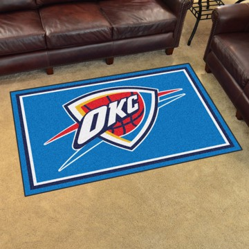 Picture of NBA - Oklahoma City Thunder 4'x6' Plush Rug