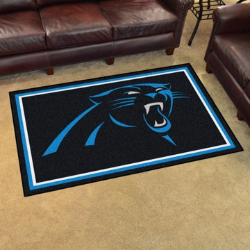 Picture of NFL - Carolina Panthers 4'x6' Plush Rug