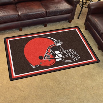 Picture of NFL - Cleveland Browns 4'x6' Plush Rug