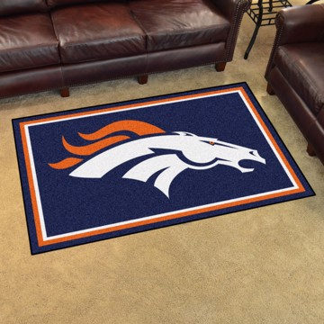 Picture of NFL - Denver Broncos 4'x6' Plush Rug