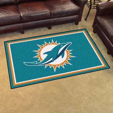 Picture of NFL - Miami Dolphins 4'x6' Plush Rug