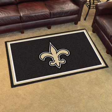 Picture of NFL - New Orleans Saints 4'x6' Plush Rug