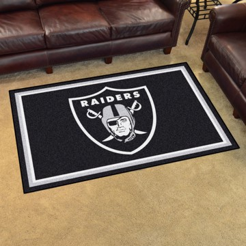 Picture of NFL - Oakland Raiders 4'x6' Plush Rug