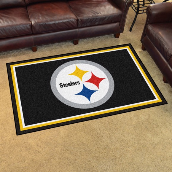 Picture of NFL - Pittsburgh Steelers 4'x6' Plush Rug