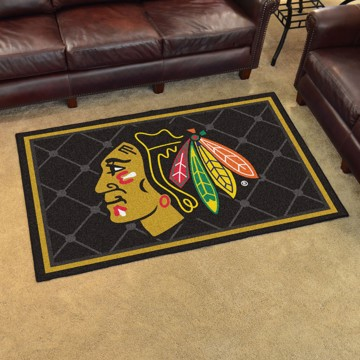 Picture of NHL - Chicago Blackhawks 4'x6' Plush Rug