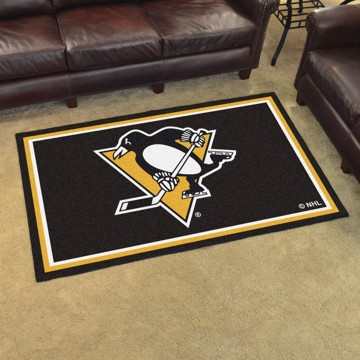 Picture of NHL - Pittsburgh Penguins 4'x6' Plush Rug