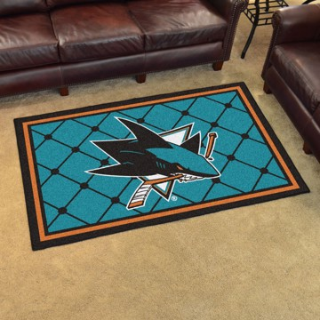 Picture of NHL - San Jose Sharks 4'x6' Plush Rug