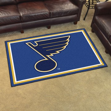 Picture of NHL - St. Louis Blues 4'x6' Plush Rug
