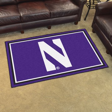 Picture of Northwestern 4'x6' Plush Rug