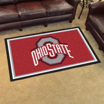 Picture of Ohio State 4'x6' Plush Rug