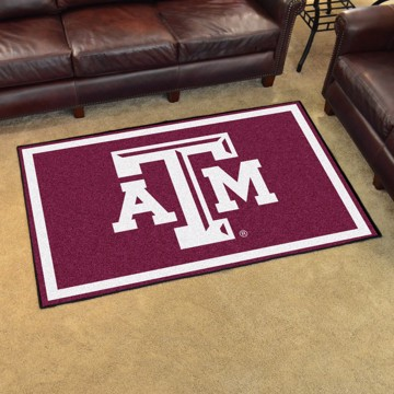 Picture of Texas A&M 4'x6' Plush Rug