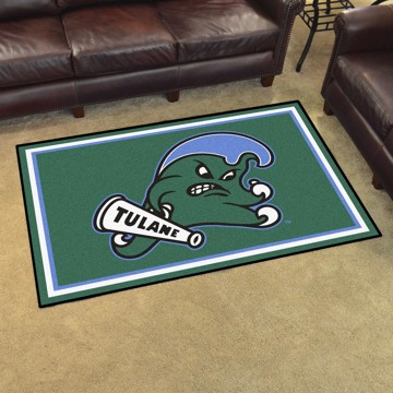 new concept 517ee be0b4 Picture of Tulane 4 x6  Plush Rug