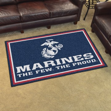 Picture of U.S. Marines 4'x6' Plush Rug