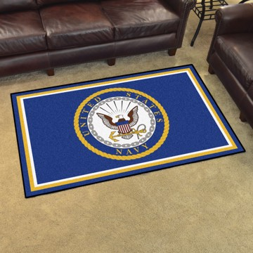 Picture of U.S. Navy 4'x6' Plush Rug
